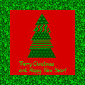 Abstract christmas card Stock Photo