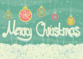 Abstract christmas card on snow background Royalty Free Stock Images