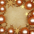 Abstract christmas golden background Stock Photos
