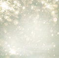 Abstract christmas golden holiday background glitter defocused with blinking stars blurred bokeh Royalty Free Stock Photography
