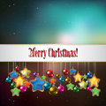 Abstract christmas greeting with decorations celebration background and stars Royalty Free Stock Photography