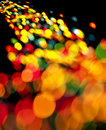 Abstract christmas light background festive lights and new year bokeh blinking Stock Photography