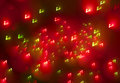 Abstract christmas light background festive lights and new year bokeh blinking Royalty Free Stock Photo