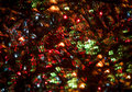 Abstract christmas light background festive lights and new year bokeh blinking Royalty Free Stock Photos
