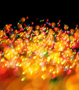 Abstract christmas light background festive lights and new year bokeh blinking Stock Image