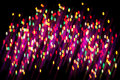 Abstract christmas light background festive lights and new year bokeh blinking Royalty Free Stock Images