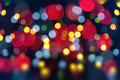 Abstract christmas light background festive lights and new year bokeh blinking Stock Photo