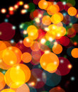 Abstract christmas light background festive lights and new year bokeh blinking Royalty Free Stock Image