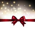 Abstract Christmas  light background with ribbon Royalty Free Stock Photo