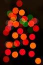 Abstract christmas lights Royalty Free Stock Photo