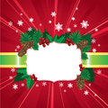 Abstract Christmas and New Year red background
