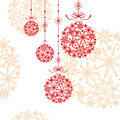 Abstract christmas ornament Stock Image