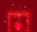 Abstract christmas red stars background Royalty Free Stock Photo