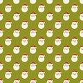 Abstract christmas santa clause face pattern wallpaper vector illustration for funny holiday noel design green white and red Royalty Free Stock Photos