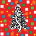 Abstract christmas tree on cool background vector eps a stylized a clip art Stock Images