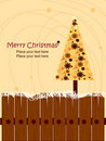 Abstract Christmas Tree Greeting Card Background Royalty Free Stock Photo