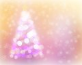 Abstract christmas tree light bokeh and snow background defocused Stock Image