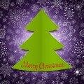 Abstract christmas tree and violet background modern Royalty Free Stock Photo