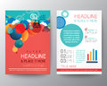 Abstract circle design brochure flyer layout template vector in a size Stock Photos