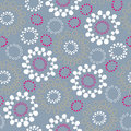 Abstract Circle Floral Seamless Pattern Royalty Free Stock Image
