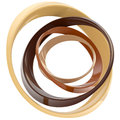 Abstract circle frame made of rings Stock Photo
