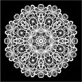Abstract circle lace pattern Royalty Free Stock Photo