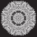 Abstract circle lace pattern decoration Royalty Free Stock Photography
