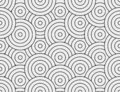 Abstract circle, line seamless pattern. Neutral monochrome business background, black grey color. Linear round shapes Royalty Free Stock Photo