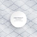 Abstract circle lines white pattern background Royalty Free Stock Photo