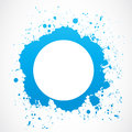 Abstract circle splash border blue background Royalty Free Stock Photos