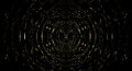 Abstract circle structure on black background, computer graphic design.