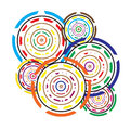 Abstract Circles colorful geometric background Royalty Free Stock Images