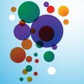 Abstract circles poster background in many colors Stock Image