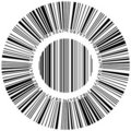 Abstract circular bar code Royalty Free Stock Photo