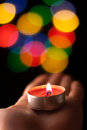 Abstract circular bokeh backgroun background of christmaslight Royalty Free Stock Image