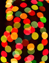 Abstract circular bokeh background of Christmas light Royalty Free Stock Photo