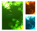 Abstract circular bokeh background vector illustration set Royalty Free Stock Images