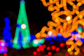 Abstract circular bokeh of Christmas light Royalty Free Stock Photo