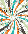 Abstract circular illustration raster design Royalty Free Stock Photo