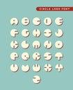 Abstract circular letter logos