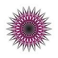 Abstract circular spiral transition fractal Royalty Free Stock Photo