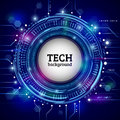 stock image of  Abstract circular technology concept. Hi-tech communication