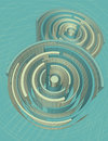 Abstract circular three dimensional background Royalty Free Stock Image