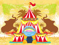 Abstract circus on a grunge background illustration Royalty Free Stock Images