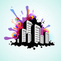 Abstract city background Royalty Free Stock Photos