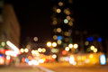 Abstract city lights defocused night scene Royalty Free Stock Image