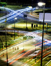 Abstract city lights at night Royalty Free Stock Photos