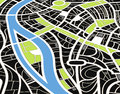 Abstract city map illustration Royalty Free Stock Images