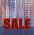 Abstract city sale background vector illustration Stock Photos
