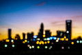 Abstract city skyline silhouette at early morning sunrise Royalty Free Stock Photo